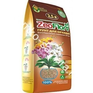 ZeoFlora Грунт для ОРХИДЕЙ 2,5л (цеофлора)