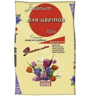 """Плодородная смесь Биопит """"Для цветов"""" 10 л"""
